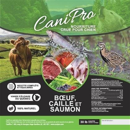 canipro-formule boeuf caille saimon